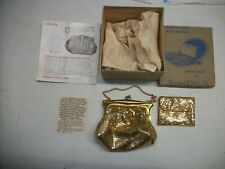 New listing Vtg Whiting & Davis Gold Mesh Art Deco Purse & Coin Purse In Original Box #2886