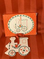 Vtg Russ Swiss Colony Old Towne Berrie Christmas Ornament Ceramic Train 2485