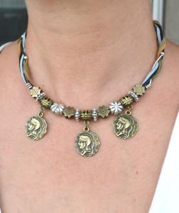 Coin Necklace, Coins Necklace, tribal coin necklace, Bronze Necklace (590)