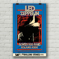Led Zeppelin Bill Graham concert poster 1969 Oakland Coliseum canvas print