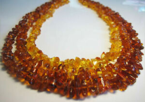 3 - Genuine Beautiful Baltic Amber Necklace 40 g. !!!