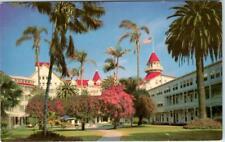 CORONADO, California  CA   HOTEL DEL CORONADO  Patio  Roadside  c1960s Postcard