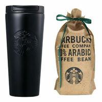 Starbucks Korea SS Etched Matt Tumbler Cup Bottle Black 473ml / 16oz