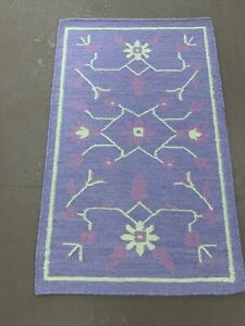 Super Super Indian Dhurrie Kilim Hand Woven Rug 2x3