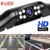 170° Car Rear View Reverse Backup Parking Camera HD Night Vision Waterproof 8LED