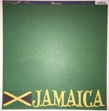4 Sheets 12x12 Double Sided Scrapbook Paper Reminisce Jamaica PSP-035 Travel