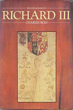 English History Richard III Bio Charles Ross 1st Ed Cal Berkeley 18 Eng Monarchs