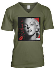 Marilyn Monroe Sealed With A Kiss Hollywood Icon Star Model Sexy Mens V-Neck