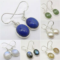 925 Sterling Silver Real Stone Earrings ! Wholesale Price Online Jewelry Store