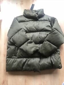 BNWT M&S Autograph Quilted Padded Jacket Khaki  Leaf Green UK size 20