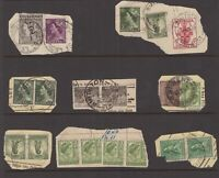 "Tasmania pre-decimal postmark selection on telegram piece all start with ""S"""