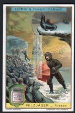 Using An Umbrella To Hunt Seal Fur Sea Very Strange c1907 Trade Ad Card