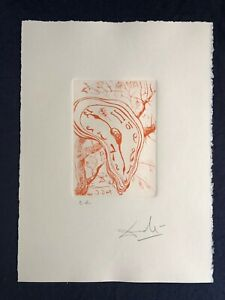 Salvador Dali Soft Watch, Montre Molle, Drypoint Etching EA Artist Proof Signed