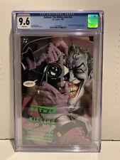 Batman: The Killing Joke 1st Print CGC 9.6 White Pages Classic Cover Joker DC