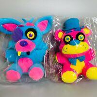 "Five Nights at Freddy's blacklight Foxy 2 types set 7"" Stuffed Plush doll FUNKO"