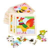 Holzpuzzle Steckpuzzle Holz Puzzle ab 1 2 Jahren Kinder Vorschule Pädagogisches