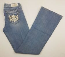 Guess daredevil flare stretch distressed jeans size 28