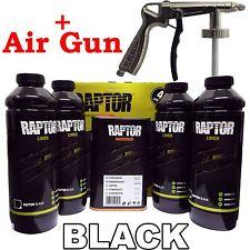 U-pol Raptor Tough Urethene Coating Truck Bed Liner BLACK + Underbody Spray Gun