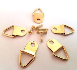 Picture Frame Hooks D Ring Hangers Frame Hanging Mirror Frame Rings Plus Screws