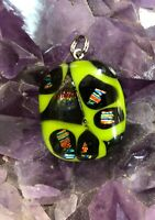 Fused Dichroic Glass  Pendant Necklace Handmade