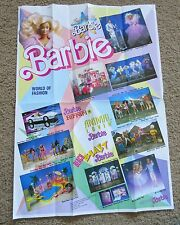Barbie poster World of Fashion Advertising Mattel 1988 Dance Club Ken Vintage