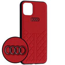 AUDI Q8 Serie Leder iPhone 11 Pro SCHUTZHÜLLE Back Case Cover Rot