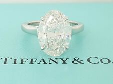 5.01 ct Tiffany & Co Platinum Oval Diamond Solitaire Engagement Ring Rtl $500k