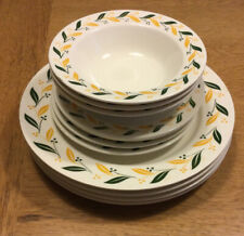 Lot Of 11 pcs 1955 Homer-Laughlin Dishes, yellow & green leaves Berries HLM353.