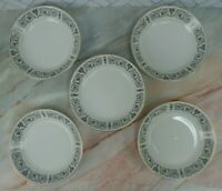 Set of 5 Coupe Soup Bowls 7 1/2'' Coventry Fine China Japan Pattern Laurent 653