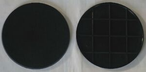 Generic 100mm Black Round Bases (2) Suitable for Warhammer 40k and Age of Sigmar