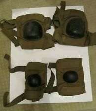 New listing Bijan's Coyote Brown Elbow Pads Sz LG & Knee Pads Sz MED Airsoft Paintball VGUC