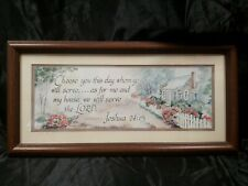 Vtg Homco Home Interiors Choose You This Day Joshua 24:15 Picture