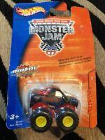 New 2004 Monster Jam Mini Predator Truck 2/4 Pull Back Action Hot Wheels Toy