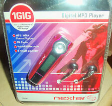 NEXTAR MP3 (PINK) Digital Player FM Radio / Recorder & Equalizer