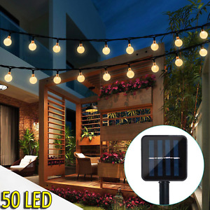 iihome 50 LED Solar String Lights Outdoor Waterproof Solar-Powered Crystal Ball