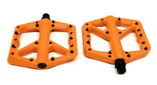 Crank Brothers Stamp 1 Mountain Bike Platform Pedals, Orange, Large
