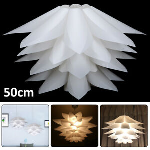 Modern Lotus 50 CM DIY IQ Puzzle Jigsaw Pendant Light Shade Ceiling Lampshade uk