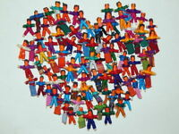 100 Tiny Guatemalan Worry Dolls. 50 Boys and 50 Girls
