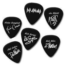 DEF LEPPARD Joe Vivian Rick Phil signature print plectrum guitar pick picks