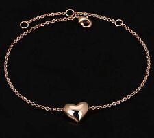 Bridesmaid Women Jewellery Gift Heart Bracelet Bangle 18k GP Rose Gold FREE BOX
