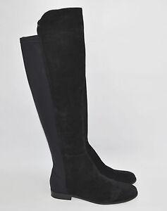 Corso Como 'Larissa' Black Suede Riding Boot OTK Over The Knee Size 8.5 M 5050