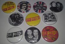 10 Sex Pistols pin button badges 25mm CBGB Punk Rock The Ramones Sid Vicious