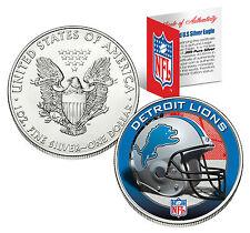 DETROIT LIONS 1 Oz .999 Fine Silver American Eagle $1 US Coin NFL LICENSED