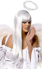 Lady White Princess Angel Wig womens fancy dress gaga