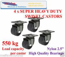 "2.5"" Low Profile Castor Wheels,Heavy Duty Castors,550kg load capacity per caster"