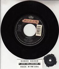 JOHN MELLENCAMP Dance Naked & R.O.C.K. In The U.S.A. record + jukebox strip RARE