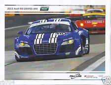 2013 Rolex Grand Am Series Fall-Line Audi R8 Hero Card