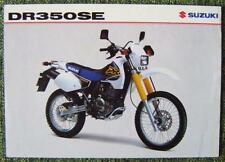SUZUKI DR 350 SE MOTORCYCLE SALES SHEET NOVEMBER 1998