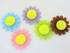 50 Cute Little Felt Sun Flower Applique/trim/doll/fabric embellishment/Craft H59