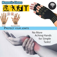 2Pair Magnetic Copper Arthritis Compression Gloves Fit Carpal Tunnel Wrist Brace